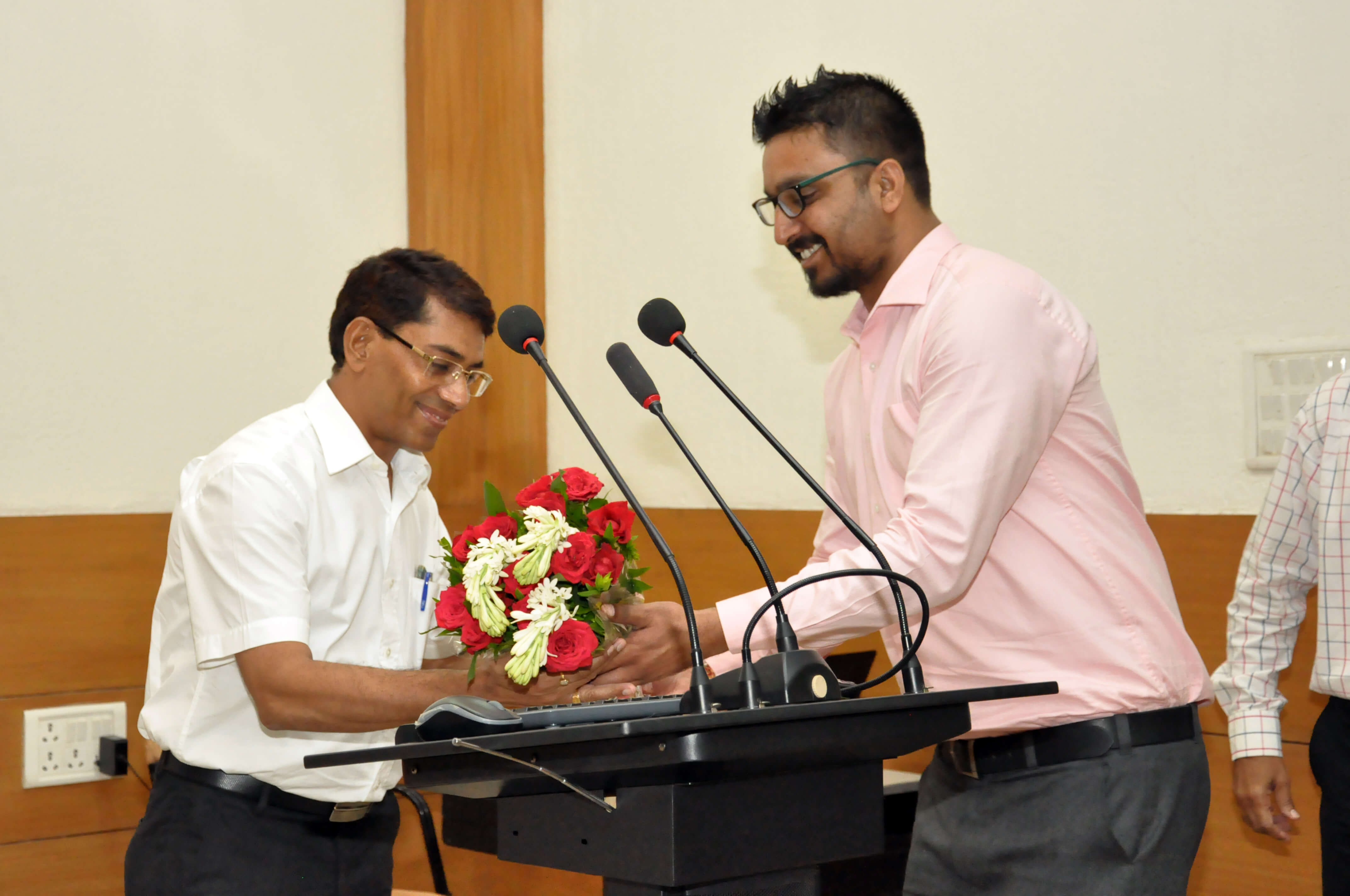 Floral welcome to Shri Aditya Sharma, CPCB, Delhi