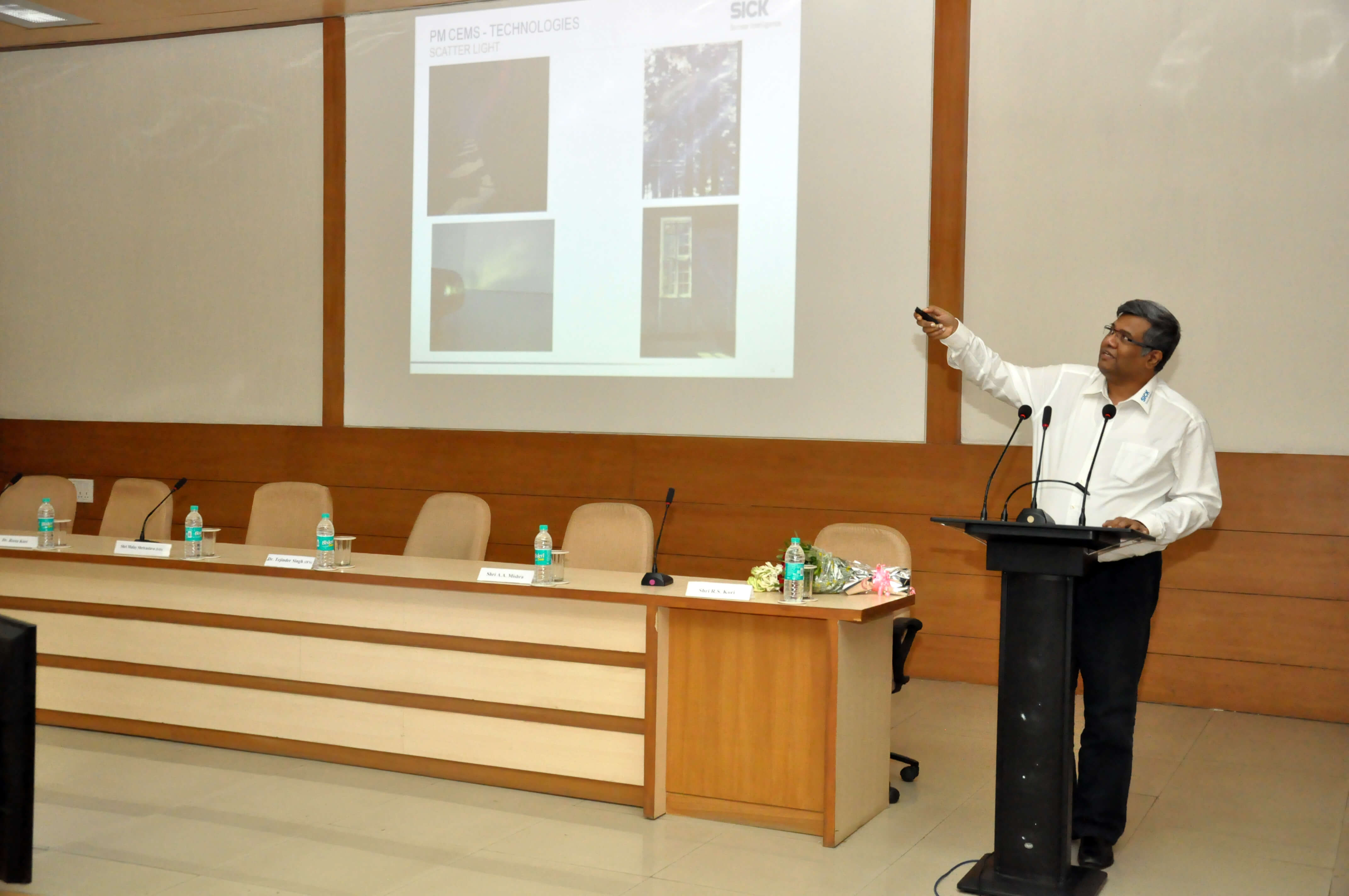 Shri Sankar Kannan, M/s SICK India Pvt. Ltd. talking on PM-CEMS technology